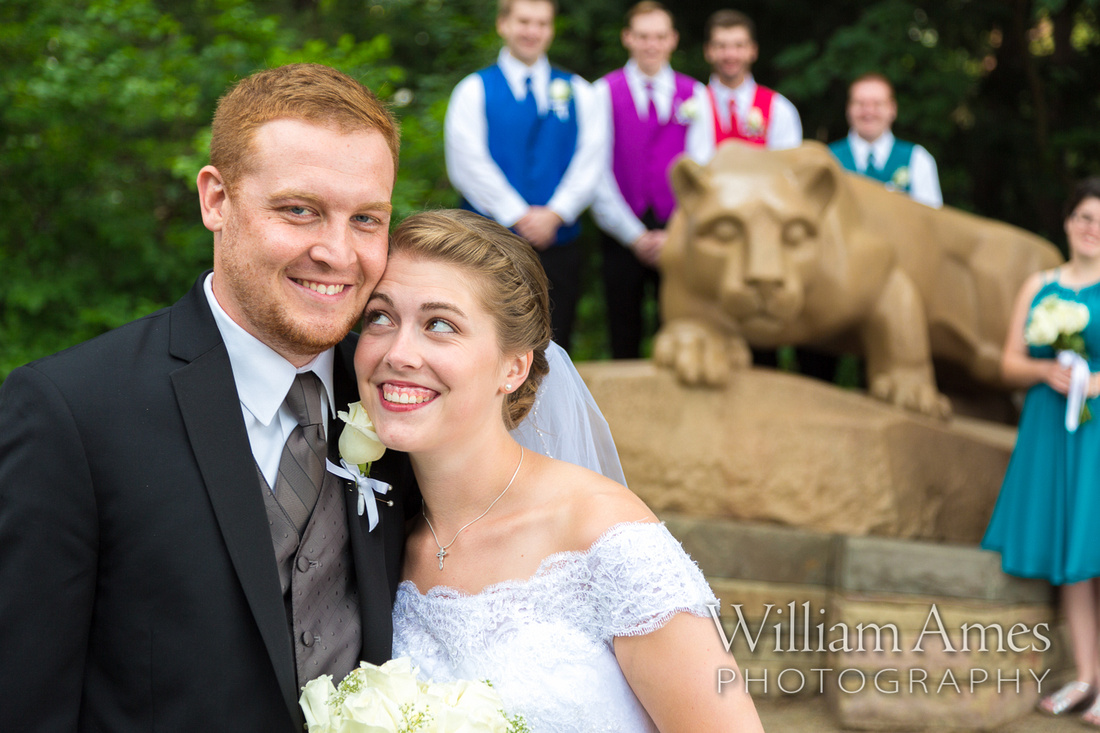 Penn State Nittany Lion Wedding