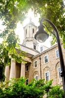 Penn State Old Main in Summer with Lamp