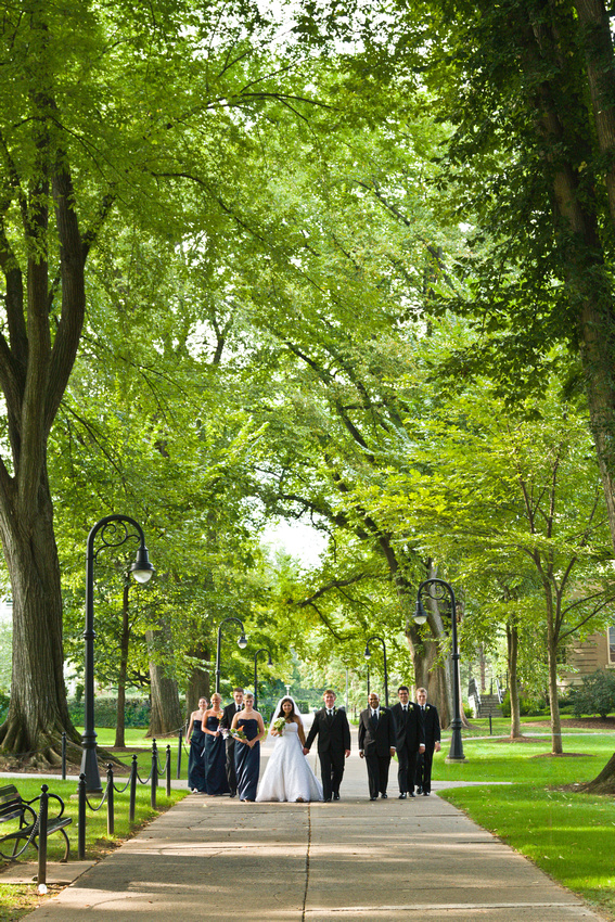 Penn State Elms wedding portrait