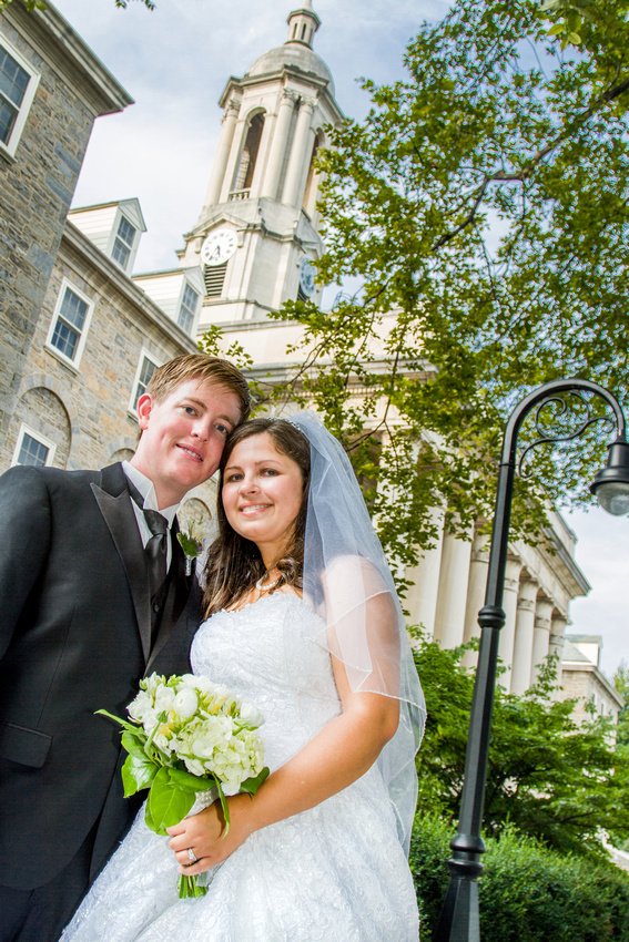 Penn State wedding portrait