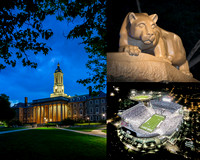 Penn State Collage 1 - 16x20 night