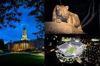 Penn State Collage 1 - 16x24 night