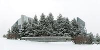 Penn State Landmark Sign in Winter