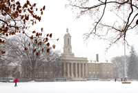 Penn State Old Main in Winter