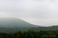 Mount Nittany in the fog - wallpaper