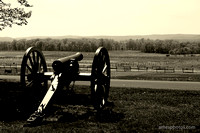 Cannon on Cemetery Ridge Gettysburg Computer Wallpaper
