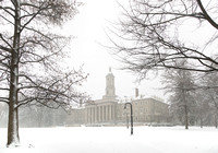 Snow Blankets Old Main