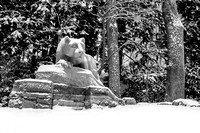 Snow on the Nittany Lion, Black and White