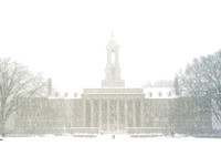Old Main snowfall, front view