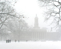 Snow Falls on Old Main