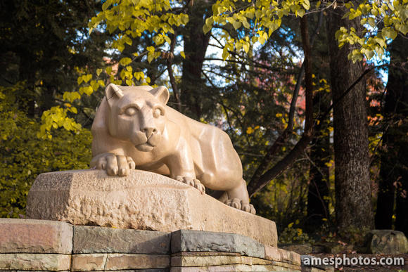 Nittany Lion Shrine - Fall, Four Seasons Collection