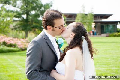 Penn State arboretum wedding portraits