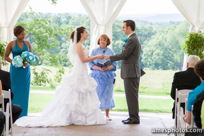 Penn State arboretum wedding ceremony