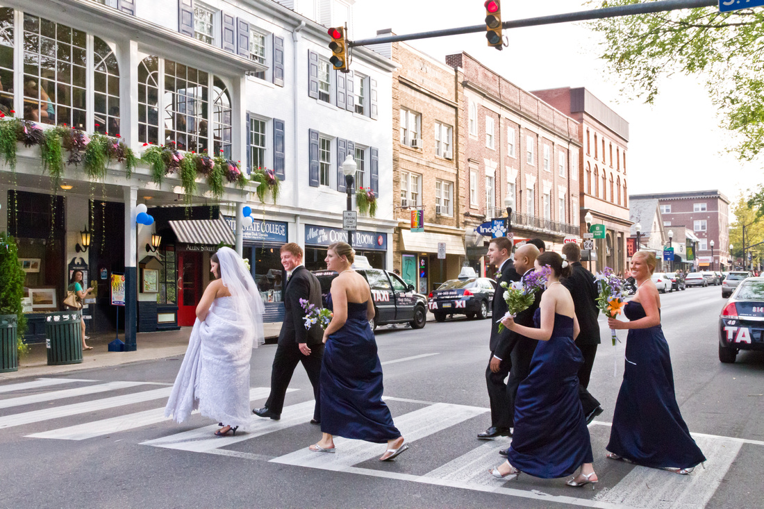 College and Allen St Wedding photo, State College