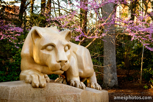 Nittany Lion Shrine with Flowers