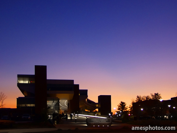 Penn State IST Building at Dusk