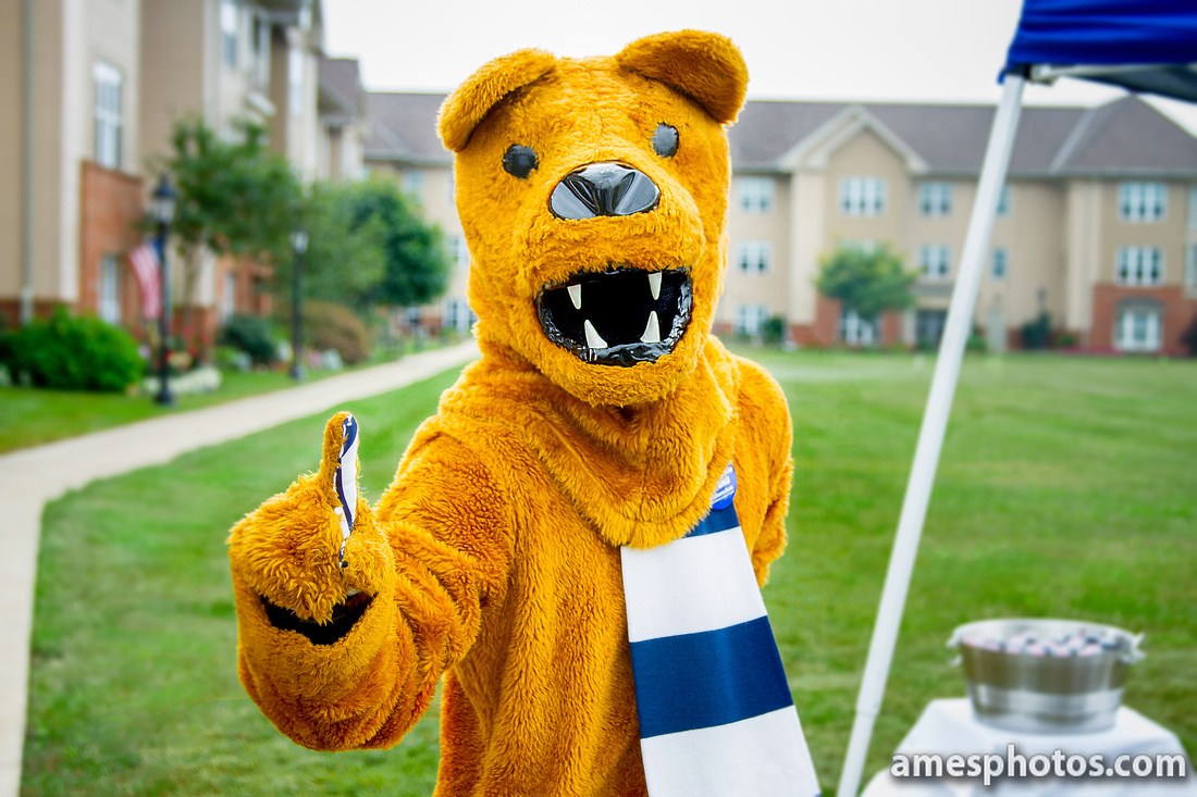 Fully retouched photo of Nittany Lion