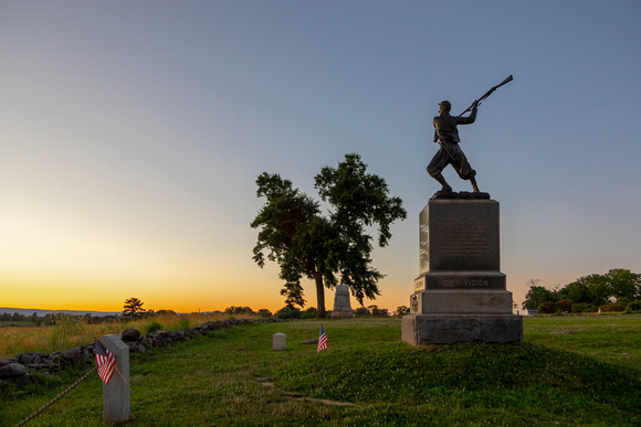 72nd PA Memorial and The Angle at Dusk