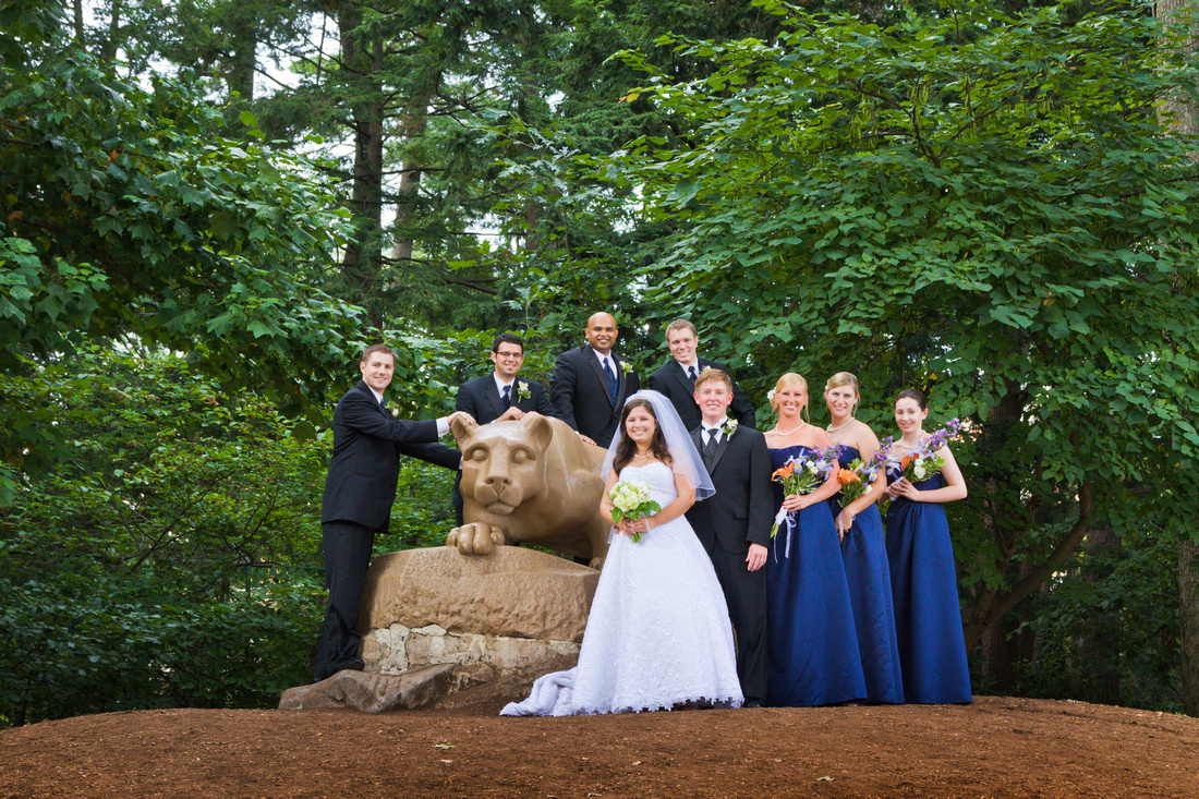 State College Nittany Lion Wedding Portrait