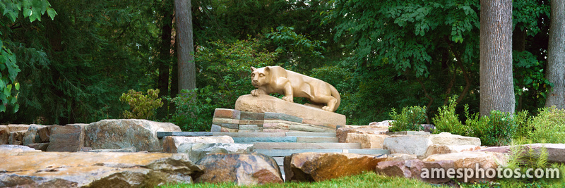New Nittany Lion Shrine panorama in summer