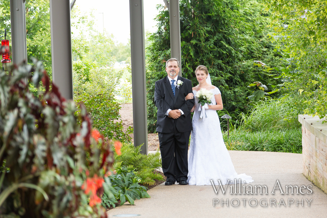 Bride and Father are Penn State Arboretum