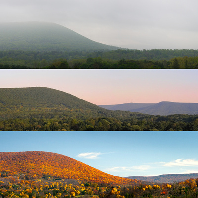 Mt Nittany in Three Seasons