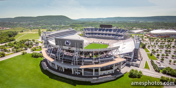 Aerial Photo of Beaver Stadium with new scoreboards