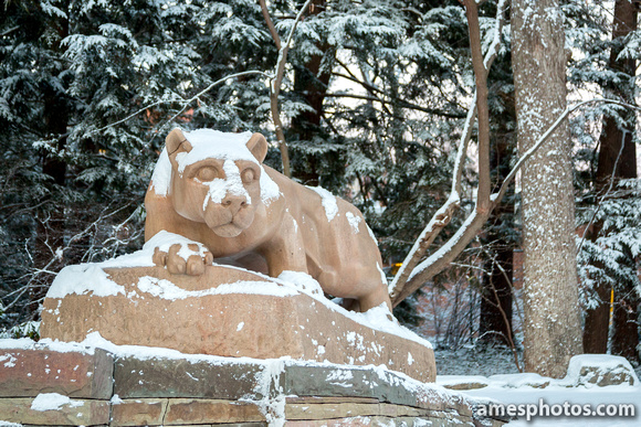 Nittany Lion in Winter 2015