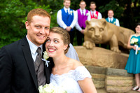 Nittany Lion wedding portrait